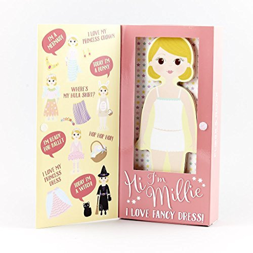 Floss & Rock Magnetic Dress Up Wooden Doll (Millie) by Floss & Rock