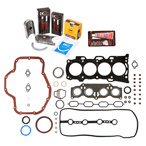 Evergreen Engine Rering Kit FSBRR2040\0\0\0 01-05 Toyota Highlander Rav4 Solara 2.4 2AZFE Full Gasket Set, Standard Size Main Rod Bearings, Standard Size Piston (Toyota Piston Ring Set)