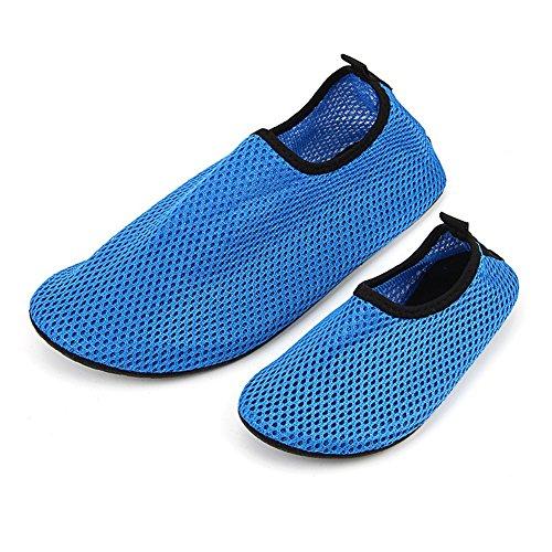 Ecseo Unisex Genitore-bambino Scarpe Da Ginnastica Aqua Calzini Per La Spiaggia Nuoto Yoga Sport-fitness Appartamenti Traspiranti Adulto-blu