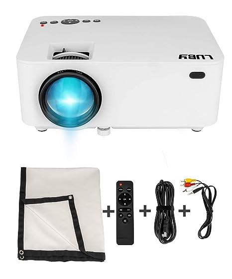 Amazon.com: Luby Mini proyector de película portátil con ...