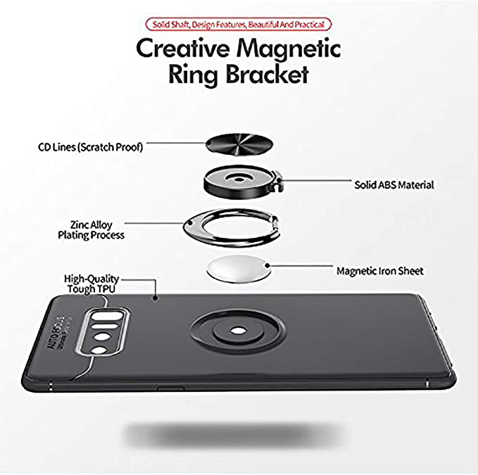 ANERNAI Galaxy Note 9 360Degree Rotating Ring Shockproof Compatible Magnetic Car Mount Cover for Samsung Galaxy Note9 4351536667