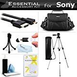 Accessory Kit For Sony HDR-CX220 HDR-CX230 HDR-PJ230 HDR-CX380 HDR-PJ380 HDR-TD30V HDR-PJ650V HDR-PJ790V HDR-CX330 HDR-CX900 HDR-PJ810, HDR-PJ540, HDR-PJ340 Camcorder Includes 50 Tripod + Case + More