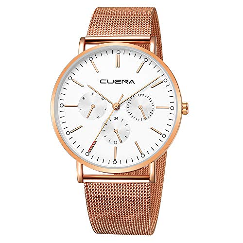 Fashion Mens Slim Mesh Watch,Outsta Casual Steel Waterproof Minimalist Wrist Watches Best Gift for Men Boys Present