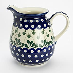 Polish Pottery Jug Pitcher – Love Leaf – 900ml