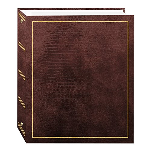 Magnetic Self-Stick 3-Ring Photo Album 100 Pages (50 Sheets), Brown