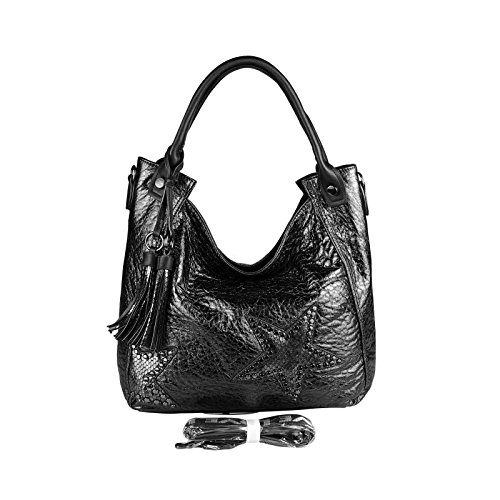 OBC Only-Beautiful-Couture - Bolso al hombro para mujer marrón marrón ca.: 42x30x13 cm (BxHxT) negro