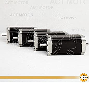 act motor gmbh 4pcs nema 23 stepper motor 23hs2430b 112 mm 3 0 n m 3 0 a  dual