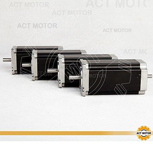 Act Moteur GmbH 4pcs NEMA 23/Moteur pas 23hs2430b 112/mm 3.0/N.M 3.0/A Dual Shaft