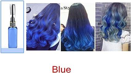 clifcragrocl tinte pelo,15ml Colorante no t¨®xico temporal Tinte para el cabello Unisex Cosplay DIY Salon Hair Mascara - Azul