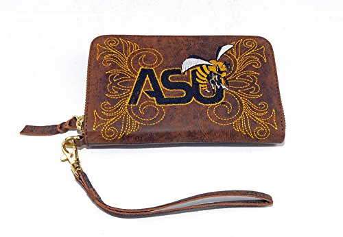GAMEDAY BOOTS NCAA Alabama State Hornets Women's Wristlet, 8x5x1/2, Brass