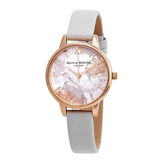 Olivia Burton Reloj Analógico para Mujer de Cuarzo con Correa en Cuero OB16VM12: Amazon.es: Relojes