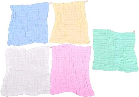 Healifty 5 Piezas Toallitas de Muselina para Bebés Toallitas de ...