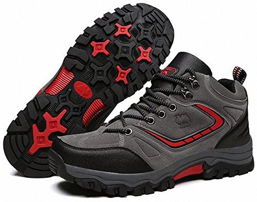 Ben Sports Damen Herren Wanderhalbschuhe Wanderstiefel Traillaufschuhe Walkingschuhe Laufschuhe C-Grau