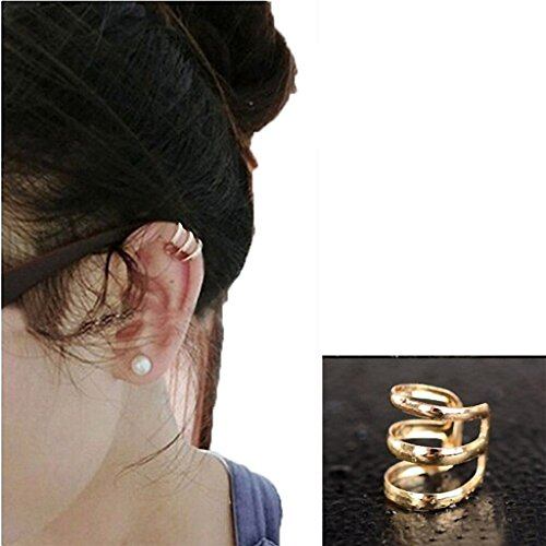 Aquamarine Cuff - Usstore 1PC Women's Punk Rock Ear Clip Cuff Wrap Alloy Ear Stud Earrings Jewelry Gift