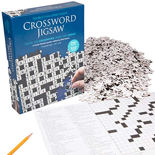 Crossword Jigsaw Puzzle - Solve the Crossword - Finish the 550 Piece Floor Puzzle (24'' x 18'') (Game Crossword Puzzle)