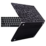 HDE Hard Shell Case for New MacBook Pro 13 Inch (Models:A1706/A1708/A1989) Touch Bar, Black Physics