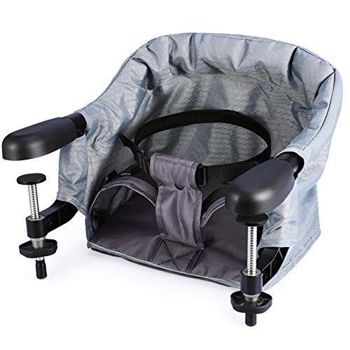 Upgrade Clip On Table Baby Highchairs, Grey Safety Steel High Chair, Fast...