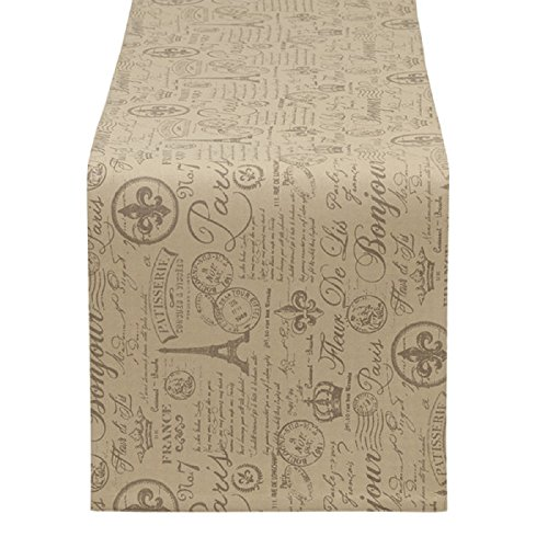 "51TBSiJesML - DII Design Imports French Flourish Printed Table Runner. 14 x 72"". 100% Cotton"