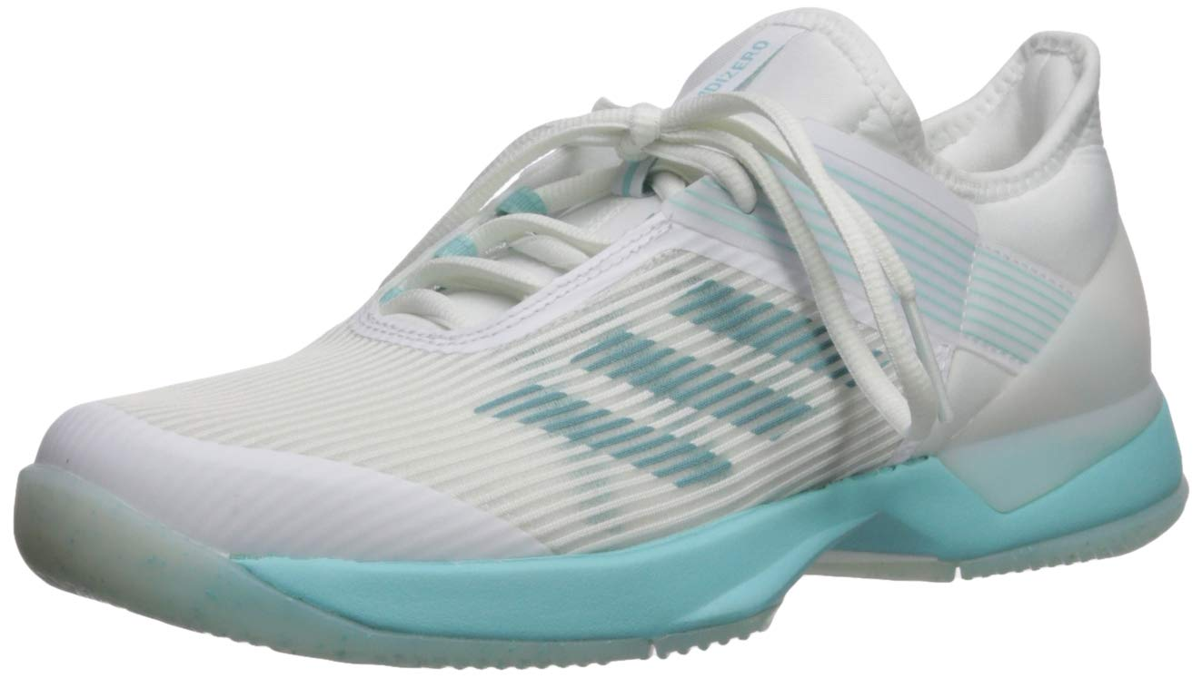 adidas Women's Adizero Ubersonic 3, Blue Spirit White, 5 M US
