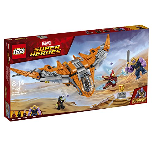 LEGO 76107 Marvel Avengers Thanos Ultimate Battle Playset, The Guardian's Ship, Iron Man, Star-Lord, Gamora & Thanos Action Figures, Superhero Toys for Kids (The Amazing Spider Man 2 Final Scene)