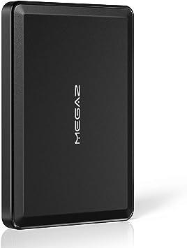 1TB 外付けハードドライブ - MegaZ バックアップスリム 2.5インチ ポータブル HDD USB 3.0 PC、Mac、ノートパソコン、PS4、Xbox One用