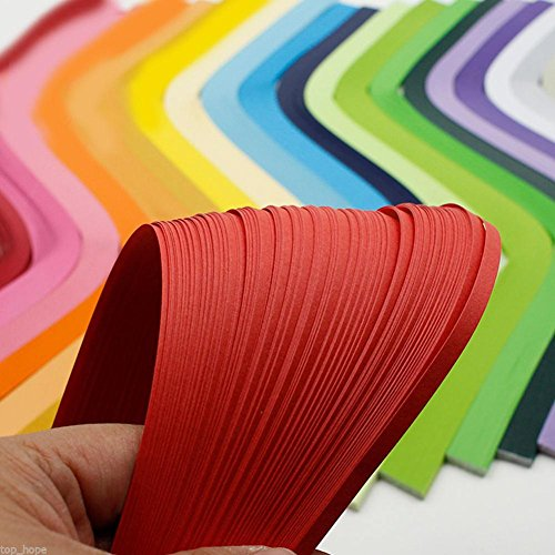 Niome DIY 120 Strips 5mm Paper Quilling Color Origami Paper Hand Craft Rose Red by Niome (Image #4)