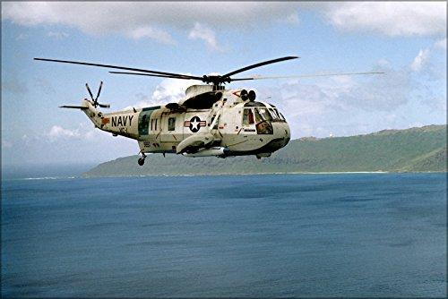 42x63 Poster; U.S. Navy Sikorsky Sh-3A Sh-3 Sea King Helicopter 1976 (Sikorsky Sh 3 Sea King Navy Helicopters)