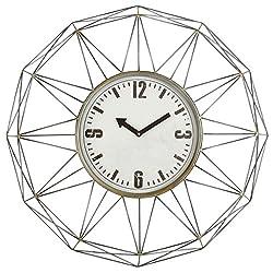 Aspire 4806 Kaylin Metal Wall Clock, Gray