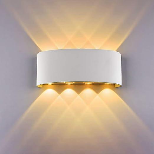 Aplique Pared Interior LED de pared Arriba abajo Lámpara de pared interior Moderno Accesorios de iluminación para Salon Dormitorio Sala Pasillo Escalera [Clase de eficiencia energética A+](Blanco): Amazon.es: Iluminación