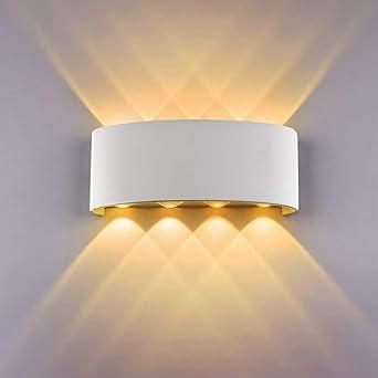 Chambre Aluminium Salle Salon Warm White Couloir Escalier À Manger Applique Murale 3000k InterieurCozihoma Moderne Cuisine Pour Lampe ARLc3qS45j