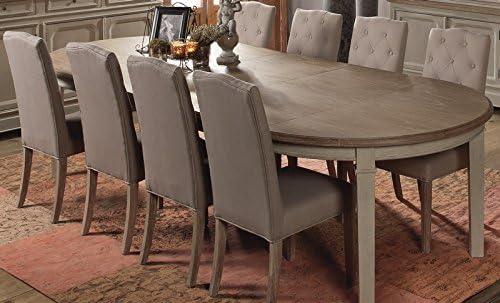 Mesa redonda extensible Charme para mueble House: Amazon.es: Hogar