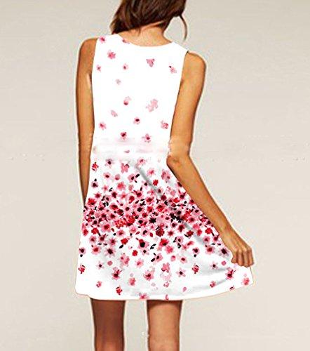 5585a1335239 Abiti Abbigliamento Ad Sciolto Linea Vintage Vestito Donna Dresses Da Pink  Eleganti Casual Vestiti Stampa Fiore ...