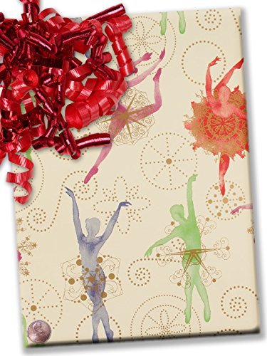 30'' X 15' Sugar Plum Fairies Gift Wrap by Paper Mart