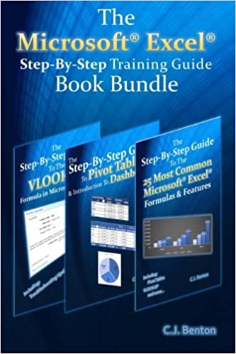 the microsoft excel step by step training guide book bundle volume