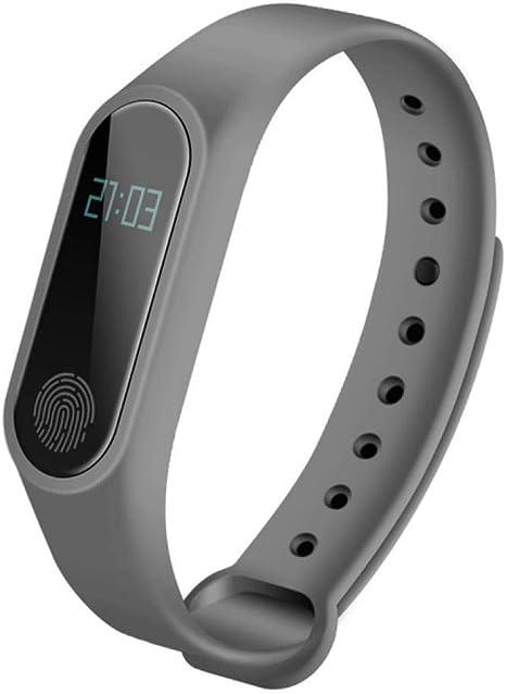 QQFTCM Banda Inteligente Reloj Digital Hombre Monitor de Ritmo cardíaco Pulsera Bluetooth Sueño Rastreador de ...