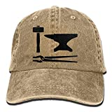 Personality Caps Hats Blacksmith Hammer Denim Hat Adjustable Men's Flag Baseball Hats