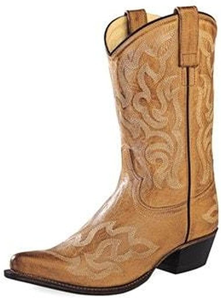 Old West Women's 10' Pointed Toe Tan