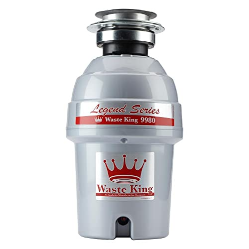 Waste King Legend Series 1 HP Continuous Feed Garbage Disposal -9980