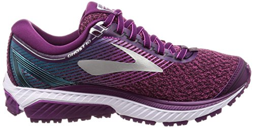 Brooks Womens Ghost 10 Loopschoenen Violet (purplepinkteal 1b511)
