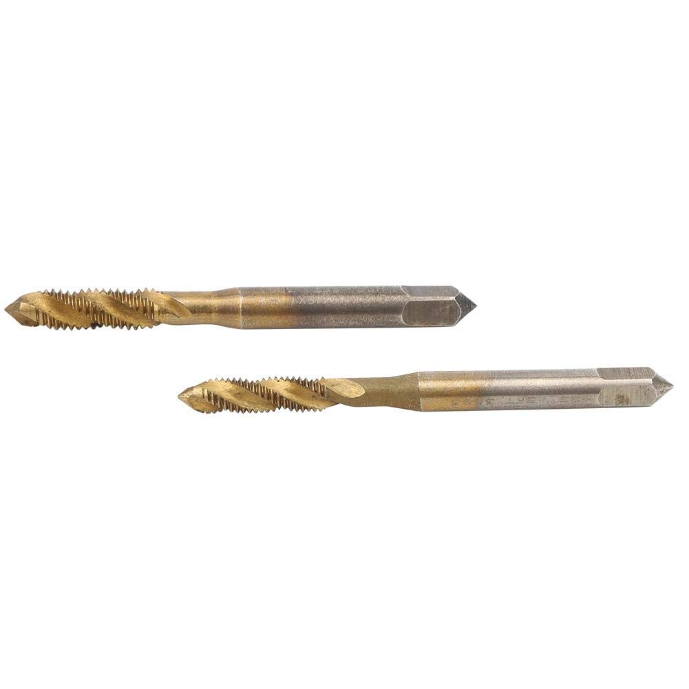 2PCs Tap Drill Bit Screw Tap Hand Tool Hardware Accessory High Speed Steel for Spiral Cobalt Machine /& Processing Stainless Steel