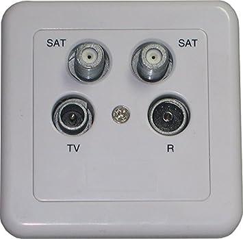Humax digital ha 52 4 Enchufe de Antena (2 x Sat, 1 x televisor, 1 ...