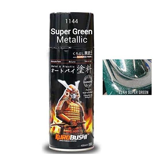SAMURAI KUROBUSHI Spray Paint 1K Metallic Colour Coat #1144-SUPER Green (D-I-Y Do It Yourself)- 400ml