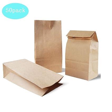 50 bolsas papel kraft marrón/Bolsa de papel Kraft bolsas de ...