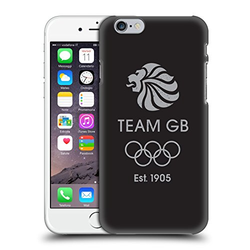 Official Team GB British Olympic Association EST Grey Logo Hard Back Case for Apple iPhone 6 / 6s