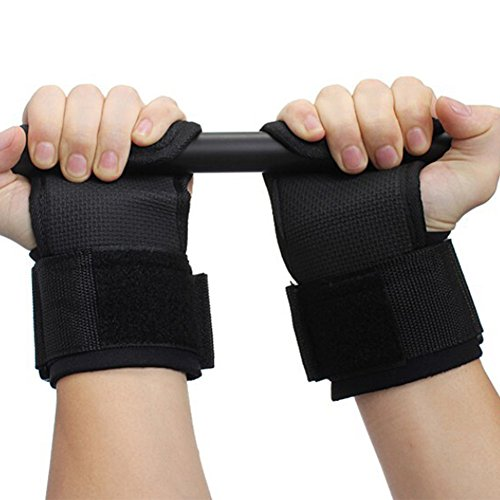W-ShiG A Pair Training Weight Lifting Gloves Bar,Wrist Straps,Wrap Hand Wrist Support Protection with Breathable Comfort Belts for Woman (Power Wrist Wrap Performance Gloves)