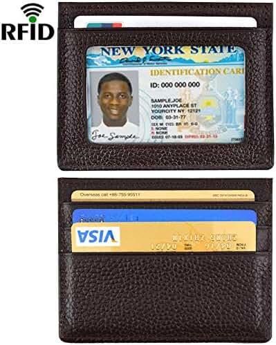Front Pocket Wallet Leather RFID Blocking Wallet Slim Credit Card Holder Wallet