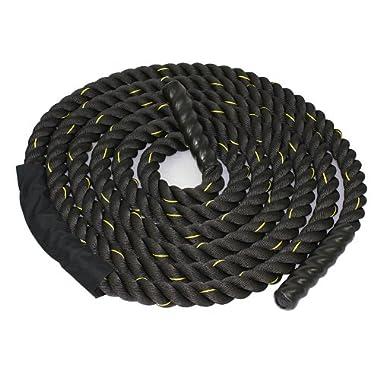Zeny 1.5  Poly Dacron 30ft Battle Rope Workout Training Undulation Rope (1.5  30ft)