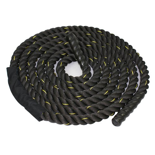 "ZENY 1.5"" Poly Dacron 30ft Battle Rope Workout Exercise Training Undulation Core Strength Trainer"