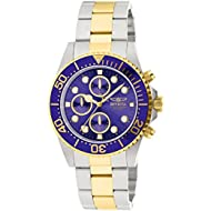 Men's 1773 Pro Diver 18k Gold Ion-Plating and Stainless Steel Watch