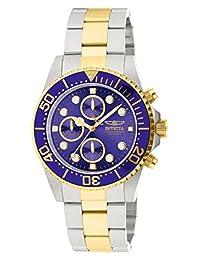 """Invicta Men's 1773""""Pro Diver"""" Reloj de acero inoxidable ionizado en oro de 18k"""